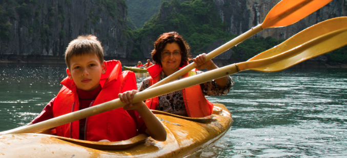 Vietnam Hanoi Halong Bay Kayaking Cruise Tour